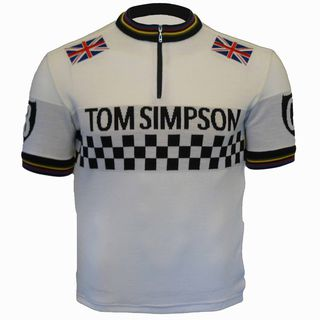 Tom Simpson wool cycling jersey