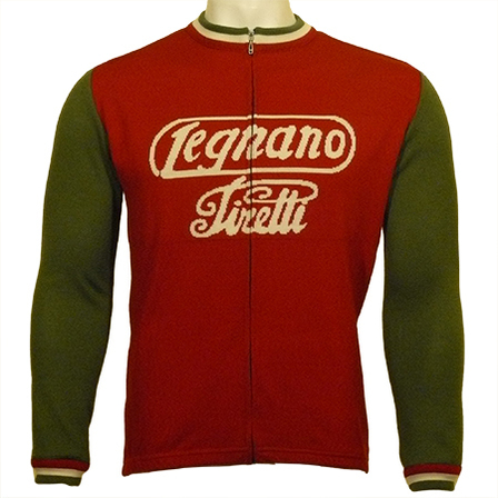 Legnano Full Zip Long Sleeve Merino Wool Cycling Jersey