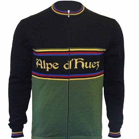Alpe d'huez Merino Wool Long Sleeve Cycling Jersey