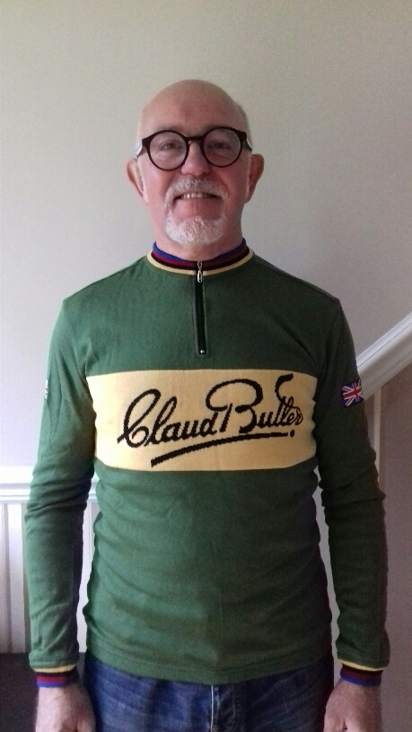 Claud Butler merino wool cycling jersey - front